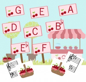 Cherry Keys Key Signature game