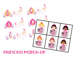 Princess match-up note game