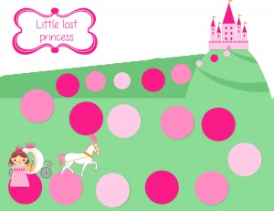 little lost princess game board