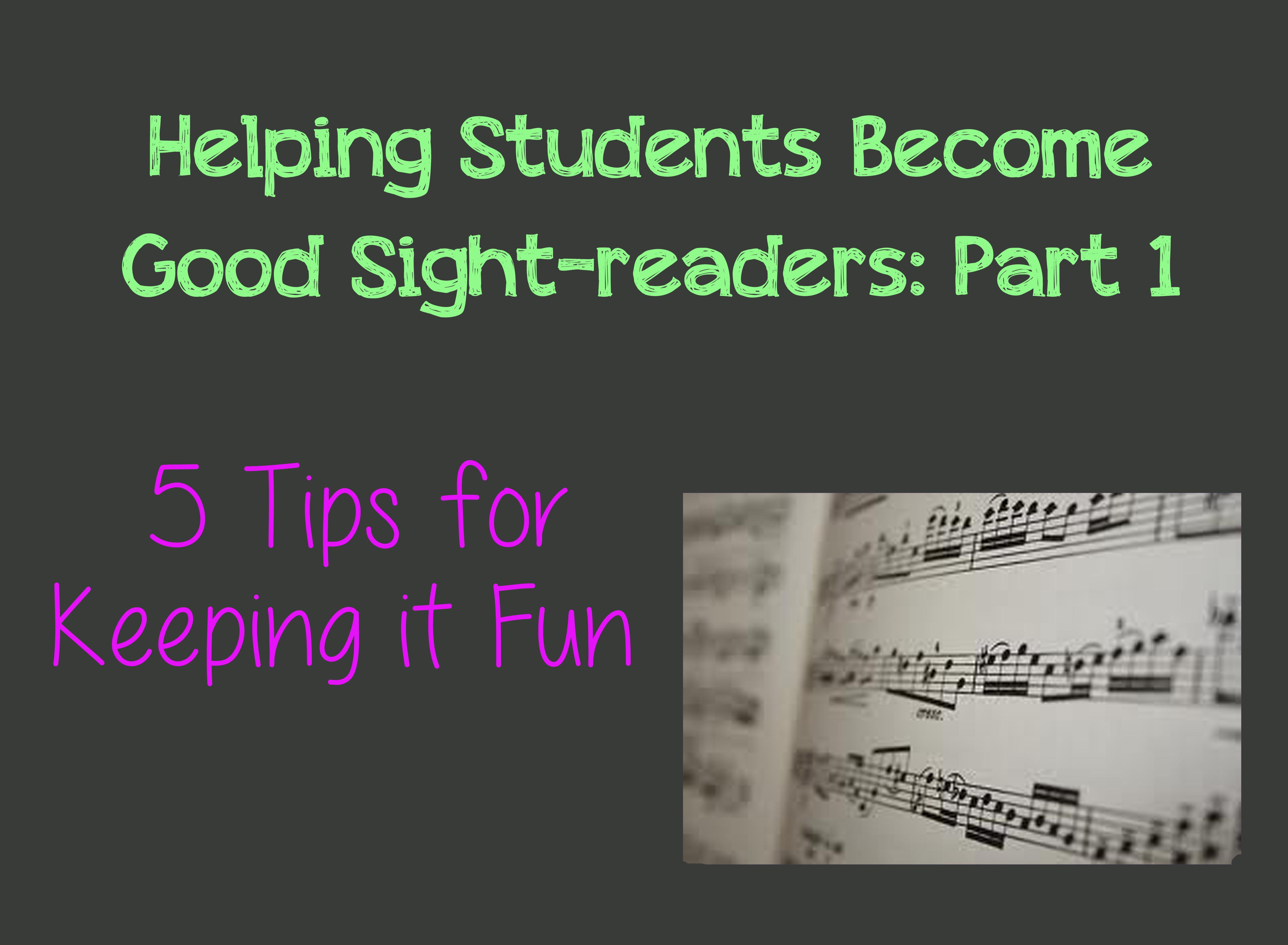 Sight reading part 1