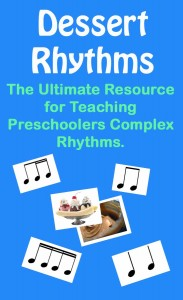 Teach students challenging rhythms in a way that they will beg to practice them more! Dessert Rhythms is the ultimate tool for teaching challenging rhythms. Thoug this resource was designed for preschoolers it can be used with any age. In addition to the dessert rhythm cards there are instructions for 10 exciting rhythm games.