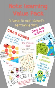 Get this note value pack full of fun frest games to teach middle C and C position notes, and give your students some new fun games to keep their reading skills sharp!