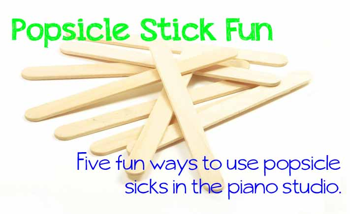 Piano Popsicle Stick Game