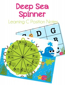 Deep Sea Spinner, Learning C Position Notes. A fun and exciting way for student's to practice their notes!