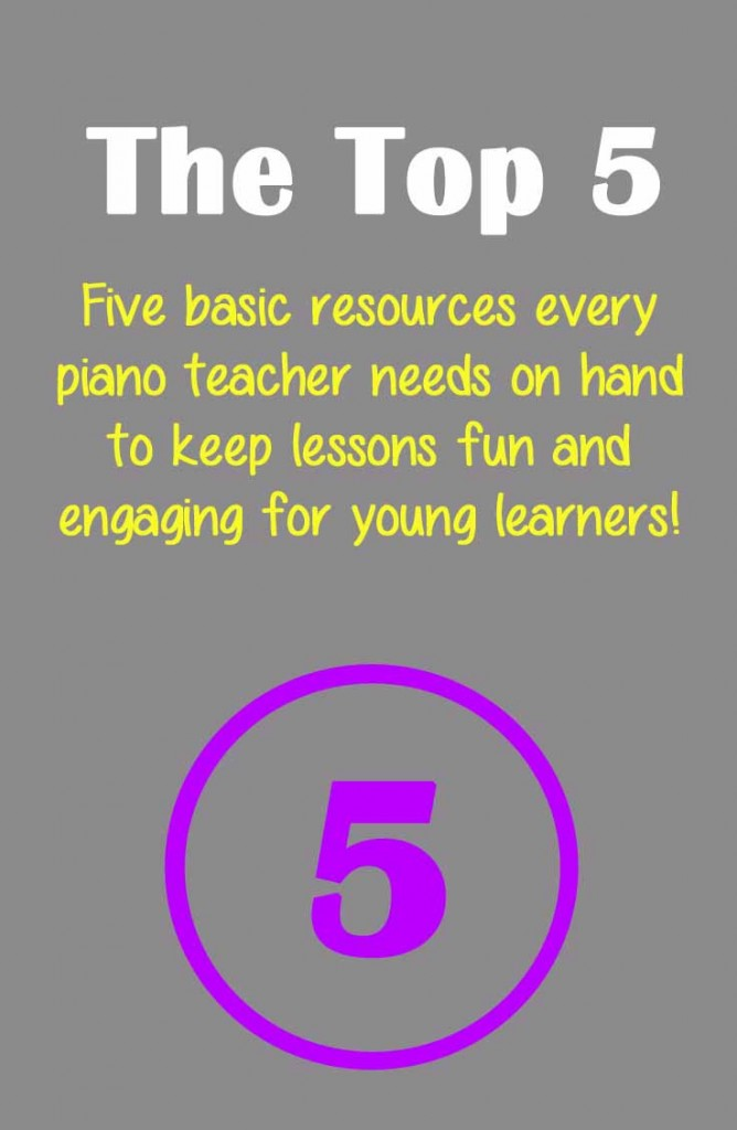 The top five things every piano teachers needs when working with elementary age children