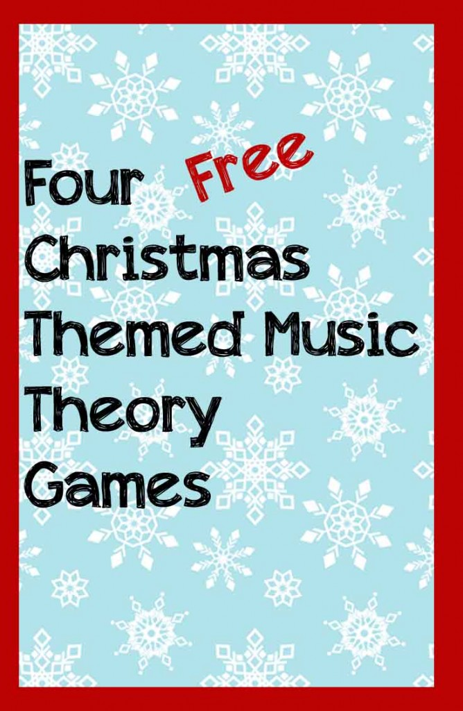 Mix up piano lessons this Decmeber with four fee Christmas themed muisic theory games.