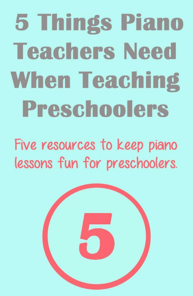 What every piano teacher needs when working with preschool students.
