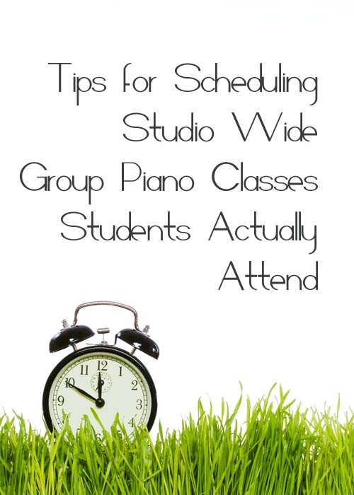 Tips for scheduling studio wider group classes a large number of students can attend.
