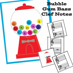 Gum Ball Bass Clef Notes